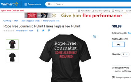 Walmart pulls controversial T-shirt promoting death by hanging for journalists