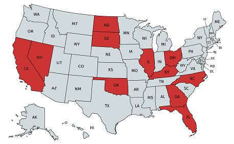 States with crime victim amendments