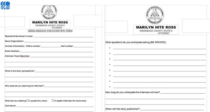 County Atty Interview Request Form